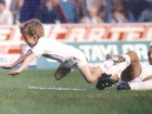 vinny jones tackling ballboy at leeds 1989 90 season